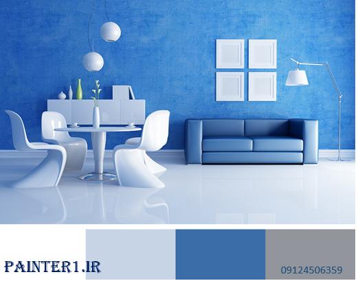 رنگ آبی در نقاشی ساختمان