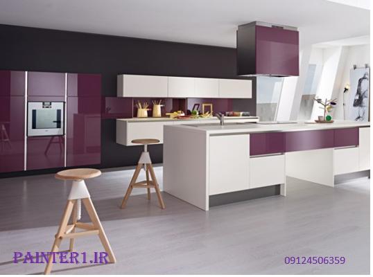 آشپزخانه ای به رنگ بنفش